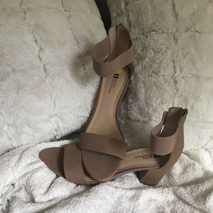 Block Healed Ankle Strap Sandals